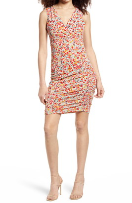 Leith Ruched Sleeveless Minidress
