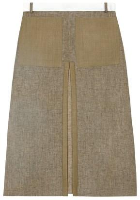 Burberry Patch Pocket Midi Skirt