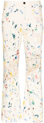 Simon Miller Miller Bell paint splattered-effect jeans