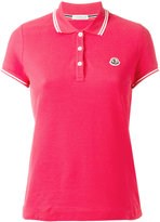 Moncler striped trim polo shirt - women - Cotton - XS