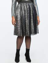 ELOQUII Textured Pleated Skirt