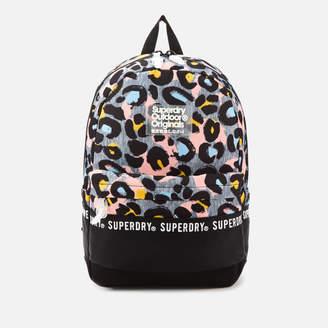 Superdry Women's Repeat Series Montana Backpack - Grey Marl Liona Leopard