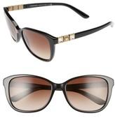 Women's Versace 57Mm Sunglasses - Black