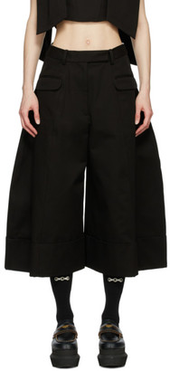 Simone Rocha Black Wide-Leg Sculpted Trousers