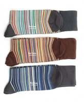 Paul Smith Three Pack Of Striped Socks
