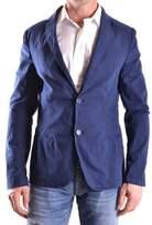 Nobrand No Brand Men's Blue Cotton Blazer.