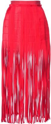 Monse Fringe Midi Skirt