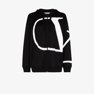 Valentino VLOGO zip-up hoodie