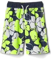 Gap Neon hibiscus swim trunks