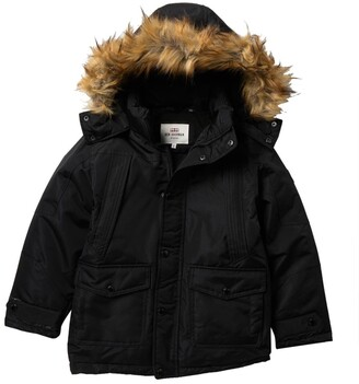 Ben Sherman Parka with Removable Faux Fur Hood