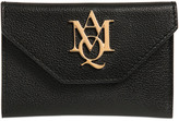 McQ by Alexander McQueen Logo Grained Leather Card Holder