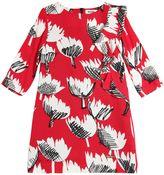 Moschino Tulip Printed Viscose Crepe Dress