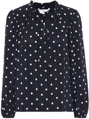 Velvet Polka-dot blouse