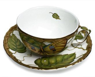 Anna Weatherley Exotic Butterflies Teacup and Saucer Set