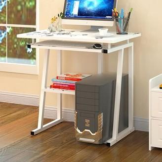Inbox Zero Computer Desk Color (Top/Frame): White