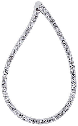 One Kings Lane Vintage 14K Diamond Teardrop Pendant - Raymond Lee Jewelers