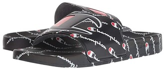 Champion IPO Repeat (Black/Black/Repeat) Men's Slide Shoes