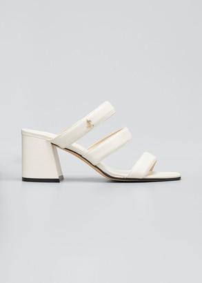 Jimmy Choo Auna 65mm Block-Heel Slide Sandals