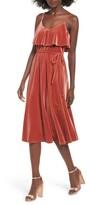 June & Hudson Women's Velvet Midi Dress