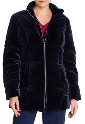 Olsen Velvet Puffer Coat