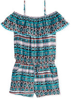 Epic Threads Geometric-Print Romper, Big Girls (7-16), Created for Macy's