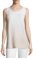 Lafayette 148 New York Round-Neck Sequined Ombre Tank, Soy/Multi