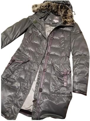 Peuterey Grey Trench Coat for Women