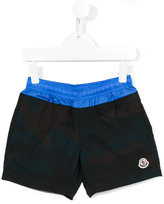 Moncler embroidered logo swim shorts