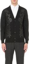 Alexander Mcqueen Rose-embroidered Wool-blend Cardigan