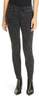 Frame Le Skinny de Jeanne Python Print Jeans