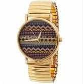 U-beauty World Map Wavy Stripes Boys and Girls Fashion Watches (Golden)