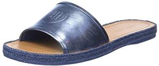 Tommy Hilfiger Women's Metallic Flat Mule Open Toe Sandals, (Red Clay 630)