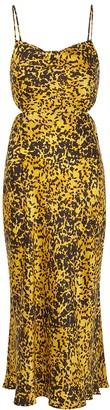 Bec & Bridge Turtle Rock printed silk midi dress