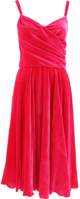 Dolce & Gabbana V-Neck Wrap Dress