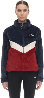 Logo Faux Fur Jacket