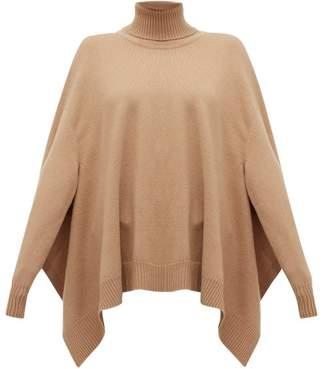 Maison Margiela Handkerchief-hem Wool Poncho Sweater - Womens - Camel