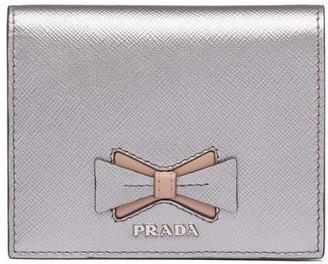 Prada Saffiano bow wallet