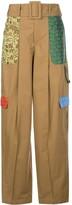 Rosie Assoulin Patchwork Wide-Leg Cargo Trousers