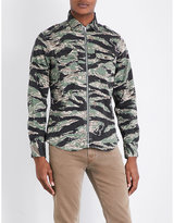 Replay Camo-print Cotton-blend Shirt