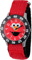 Sesame Street Red And Black Elmo Time Teacher Strap Watch W003164