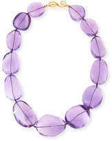 Splendid Polished Amethyst Nugget Necklace