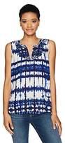 NYDJ Women's Embroidered Tye-Dye Top
