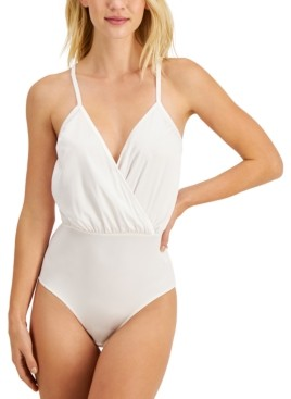 INC International Concepts Inc Cross-Front Cami Bodysuit, Created for Macy's