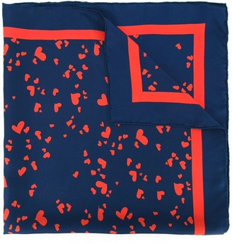 macgraw Heart Print Scarf