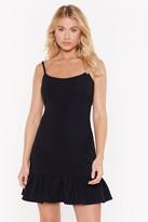 Nasty Gal Womens Bow Your Worth Ruffle Mini Dress - Black - 4, Black