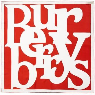 Burberry Archive Logo Silk Scarf