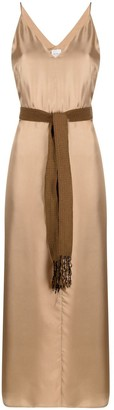Alysi Belted Silk Dress