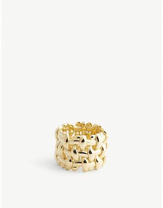 Bottega Veneta Intrecciato gold-plated ring