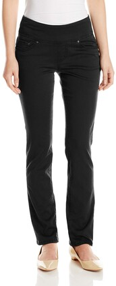Jag Jeans Women's Petite Peri Straight in Bay Twill Black 0 Petite