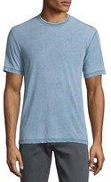 John Varvatos Burnout Short-Sleeve Crewneck T-Shirt, Atlantic Blue